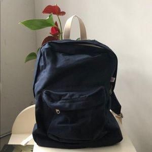 BRAND NEW American Apparel Canvas Navy Backpack